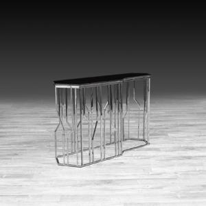 lorensia silver glass stylish console table
