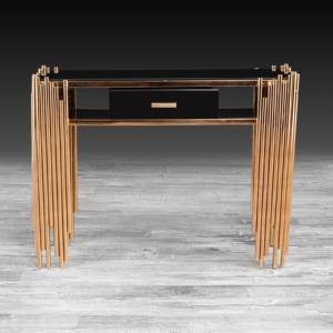 Modern Mauris Rose Gold Console Table