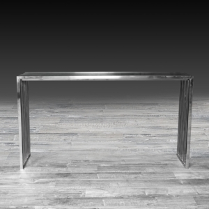Modern Prisco Silver Console Table