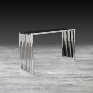 prisco silver stylish console table