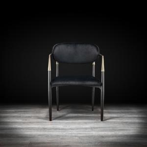 bianca gold black modern dining chair