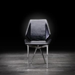 exeter black modern dining chair