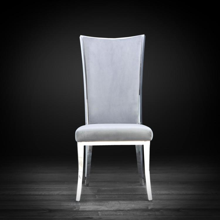 Enjoyable Massimo Silver Dining Chair Machost Co Dining Chair Design Ideas Machostcouk