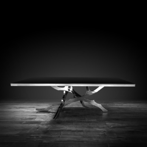 albero silver modern dining table