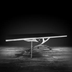 albero silver stylish dining table