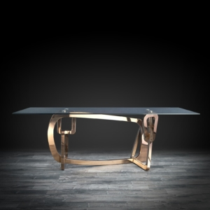 flow rgss glass modern dining table