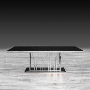 lorensia silver modern dining table