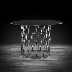 sequenza silver modern dining table