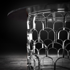 sequenza silver stylish dining table