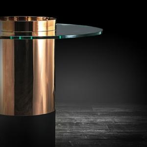 cerchio tall round rg stylish end table