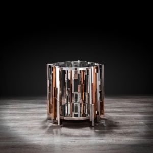Illusion Round Silver End Table