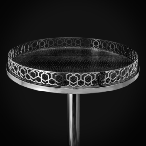 malena md round silver stylish end table