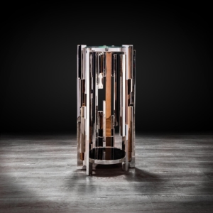 illusion silver modern flower stand
