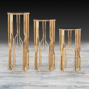 Modern Lorensia Rose Gold Flower Stand