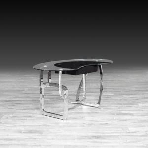 flow glass stylish office desk