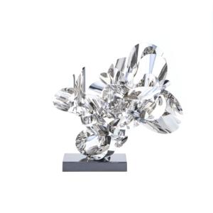 blooming 2 silver luxury sculpture