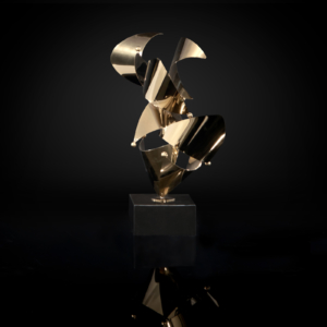 Fingertip-1 Titanium Gold Sculpture