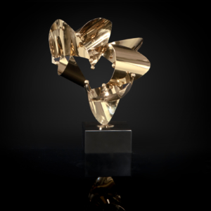 Fingertip-2 Titanium Gold Sculpture