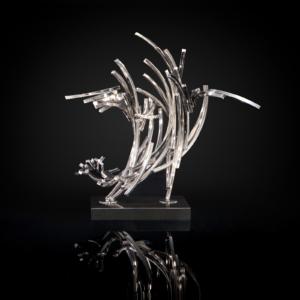 Line Complex-2 Silver Sculpture