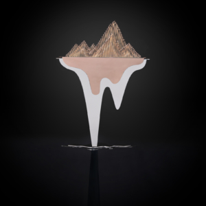 Mountain Voice-2 Rose Gold Sculpture
