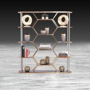 Varossi Hexagon Rose Gold Shelf