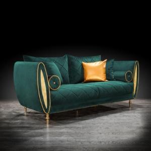 cerchio gold green stylish sofa set
