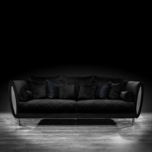 cerchio silver black modern sofa set