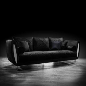 cerchio silver black stylish sofa set
