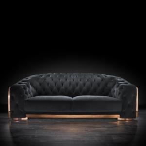 massimo rg black 1 sofa set