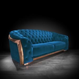 massimo rg blue 2 sofa set