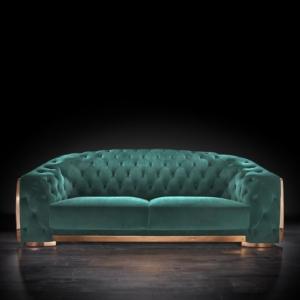 massimo rg dark green modern sofa set