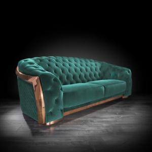 massimo rg dark green stylish sofa set