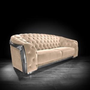 massimo silver taupe stylish sofa set