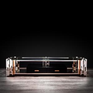 Illusion Silver TV Stand