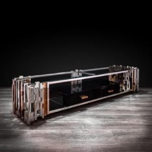 illusion silver stylish tv stand