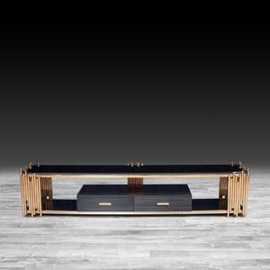 Modern Mauris Rose Gold TV Stand