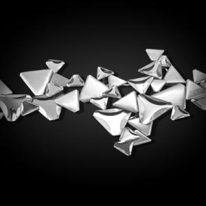 twinkling star 1 silver modern wall art